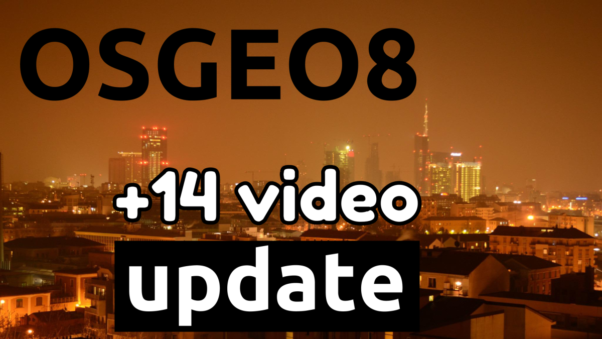 video tutorial OSGeo 8 update